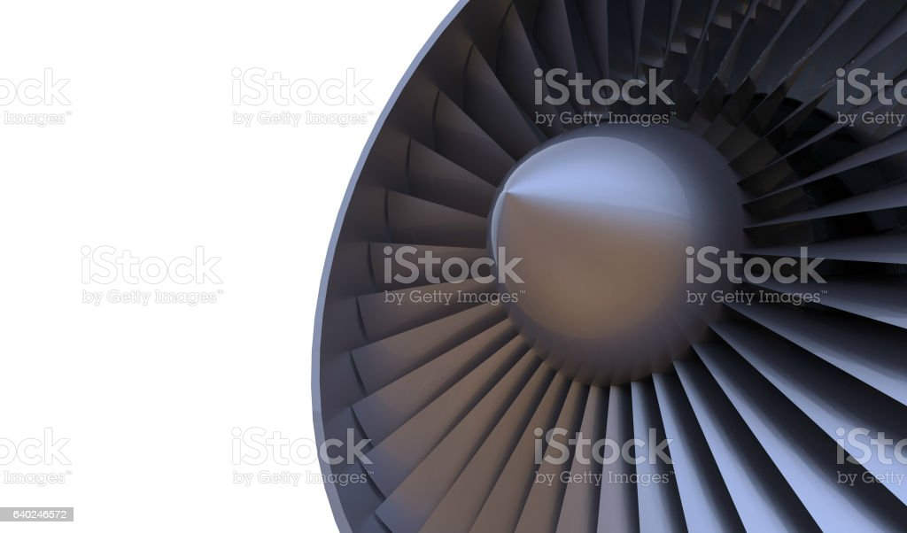 Aircraft engine detail and Isolated stock photo