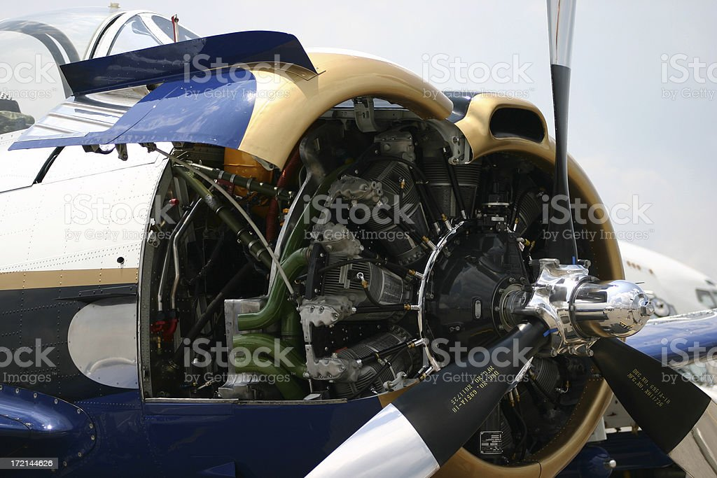Aircraft Engine Detail royalty-free stock photo