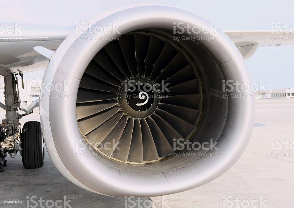 Двигателя самолета Стоковые фото Стоковая фотография