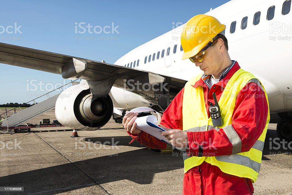 Aircraft engineer stock photo