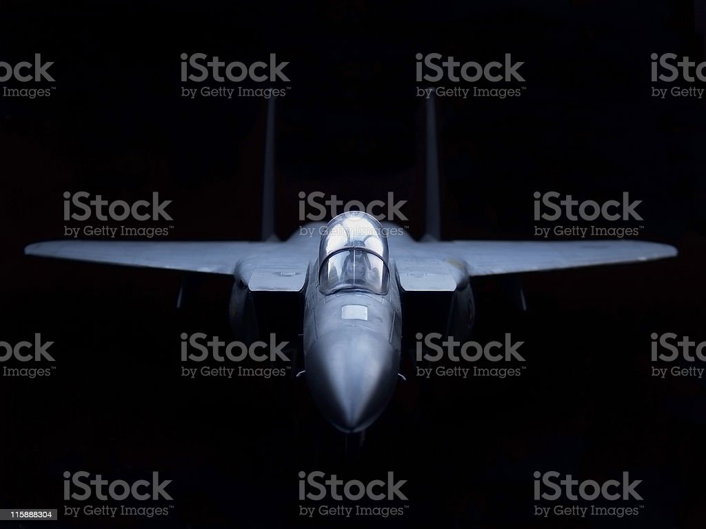 Aircraft F-15 USAF Model stock photo
