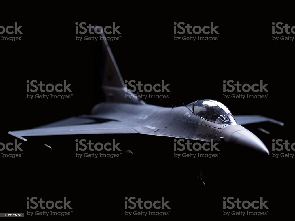 Aircraft F-16 USAF Model royalty-free stock photo