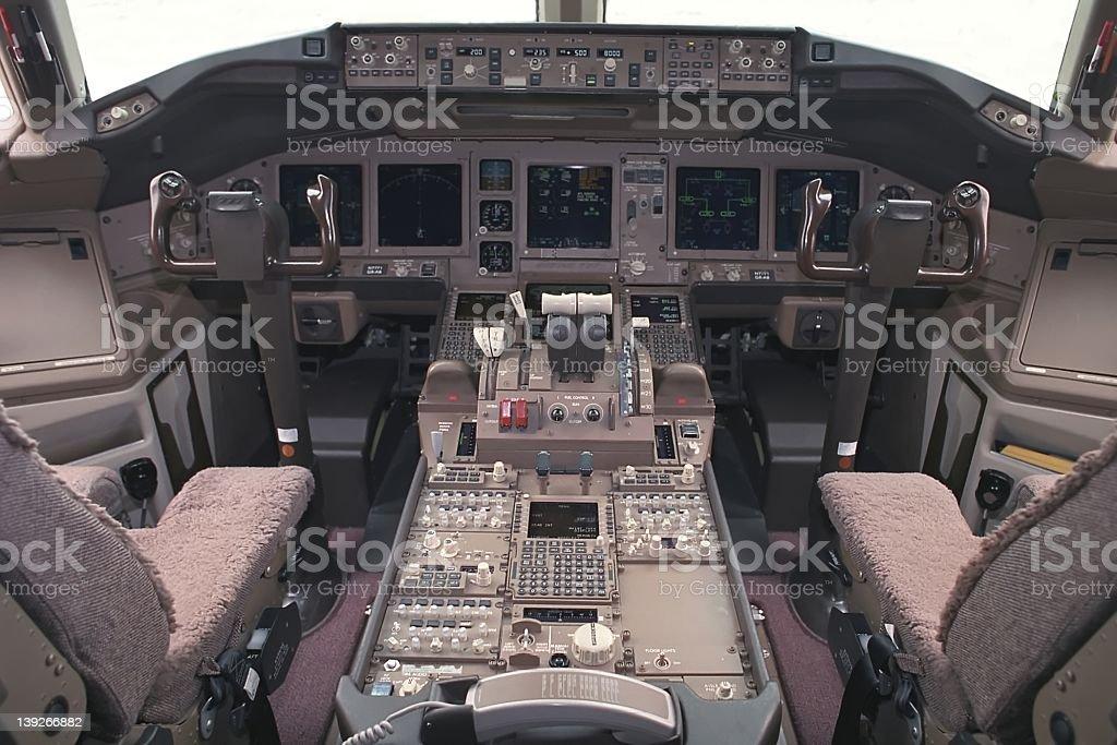 Aircraft Flight Deck royalty-free stock photo