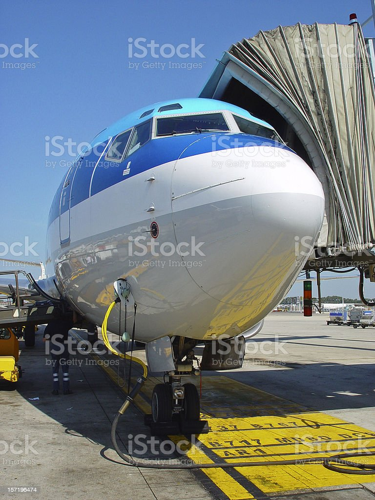 Aircraft handling royalty-free stock photo