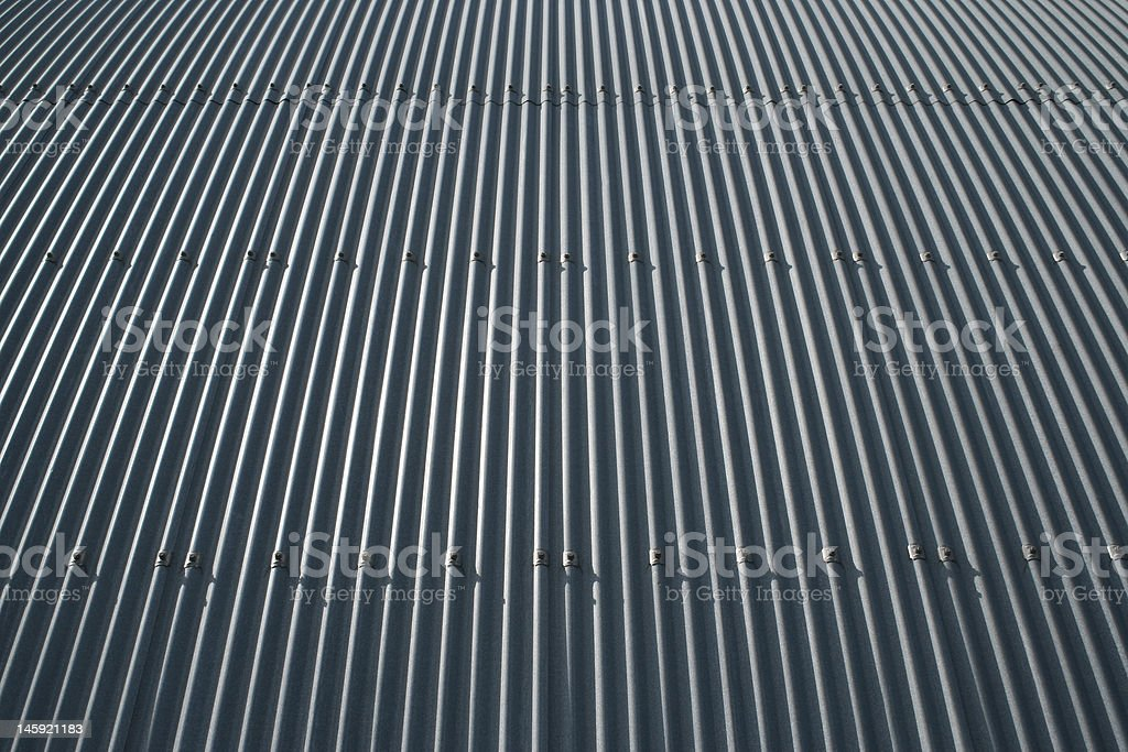 Aircraft Hangar, Curved Roof royalty-free stock photo