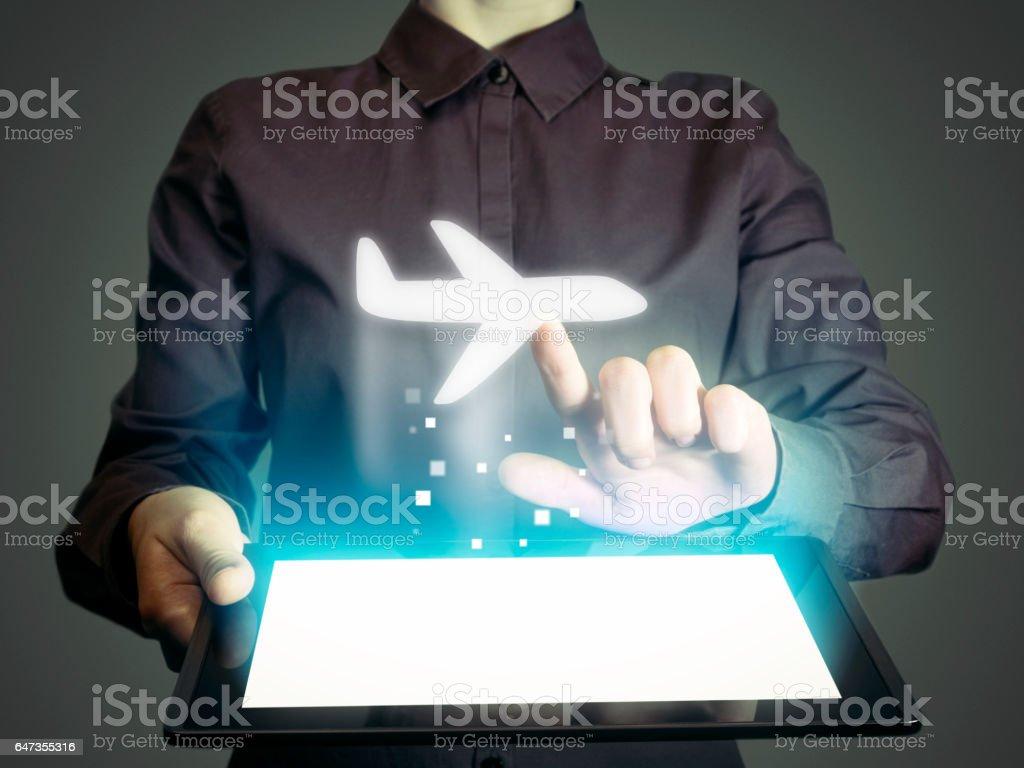 aircraft icon stock photo