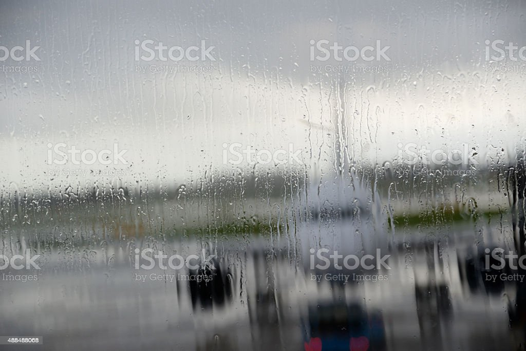 Aircraft in a storm stock photo