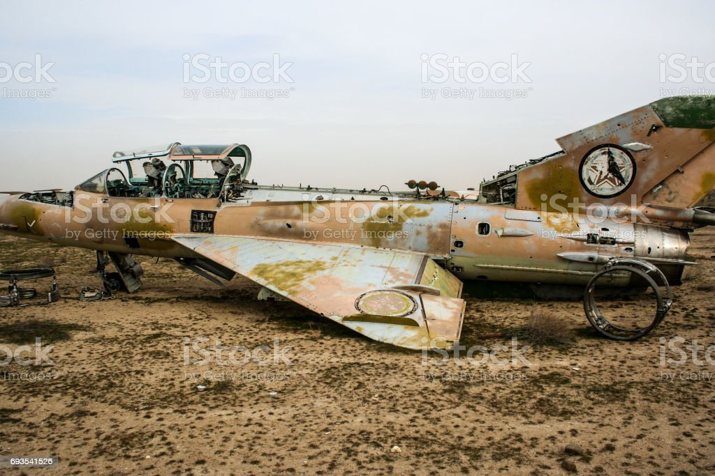 Aircraft in Afghanistan stock photo