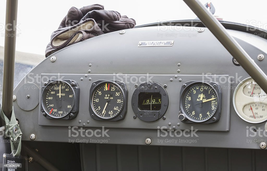 Aircraft Instrument Panel royalty-free stock photo