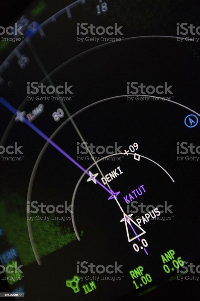 Aircraft instruments closeup royalty-free stock photo