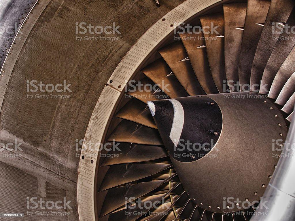 Aircraft intake closeup details side view stock photo