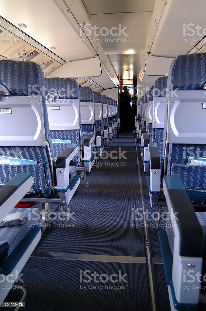 Aircraft Interior royalty-free stock photo