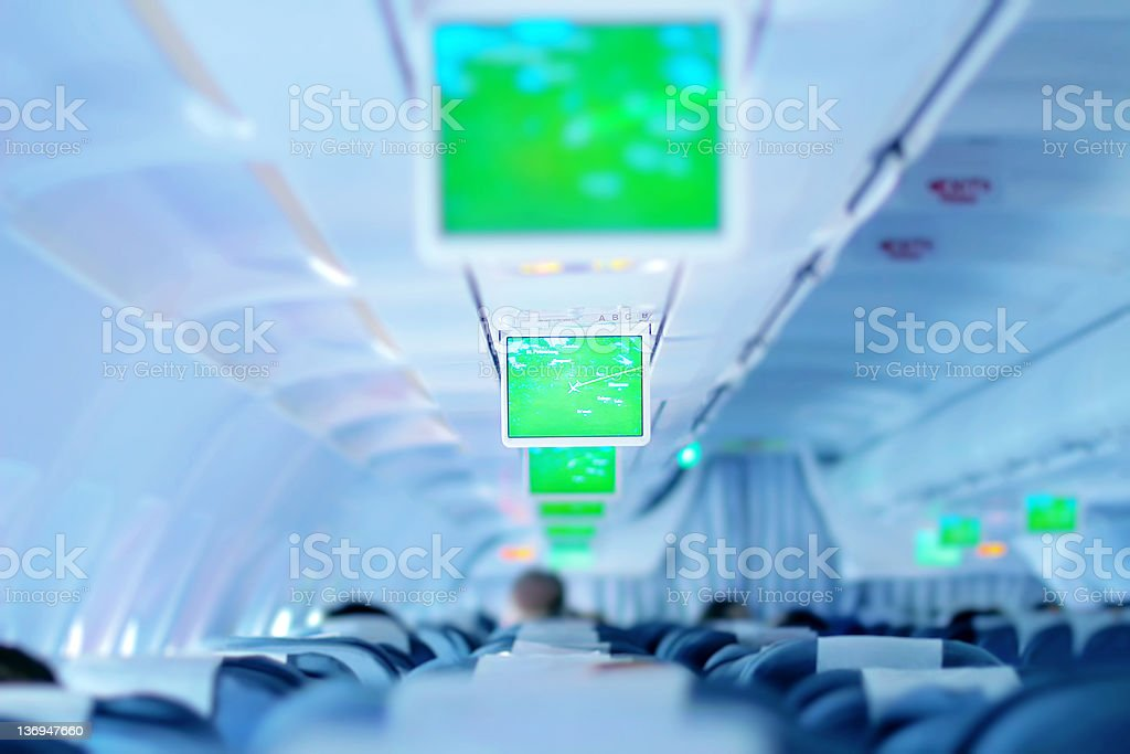 Aircraft interior royalty-free stock photo