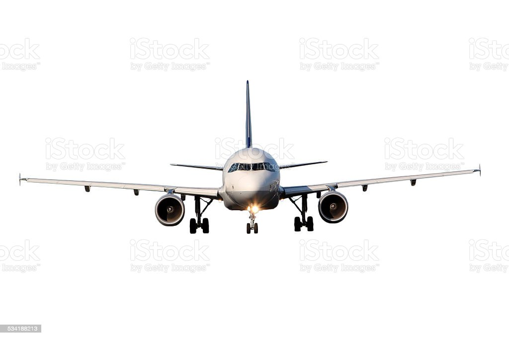 Aircraft isolated on white background stock photo