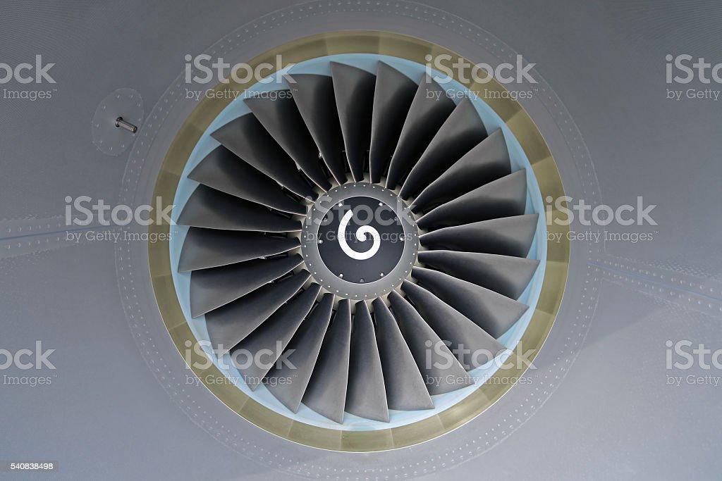 Aircraft Jet Engine stock photo