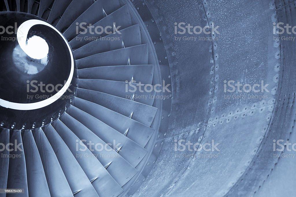 Aircraft jet engine turbine royalty-free stock photo