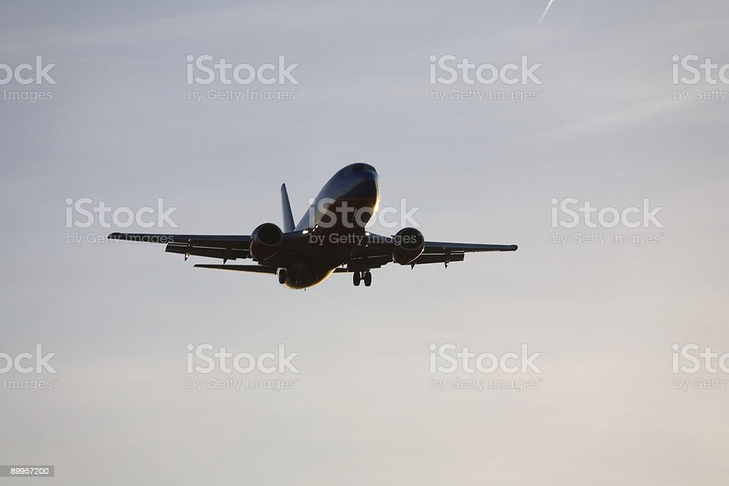 Aircraft Landing foto stock royalty-free