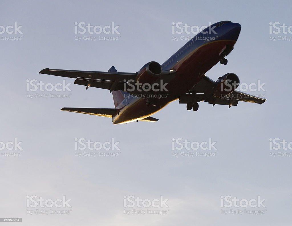 Aircraft Landing foto stock royalty-free