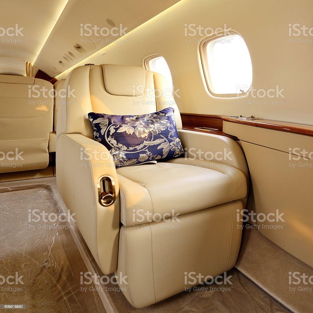 Aircraft Luxury Single Seat stock photo