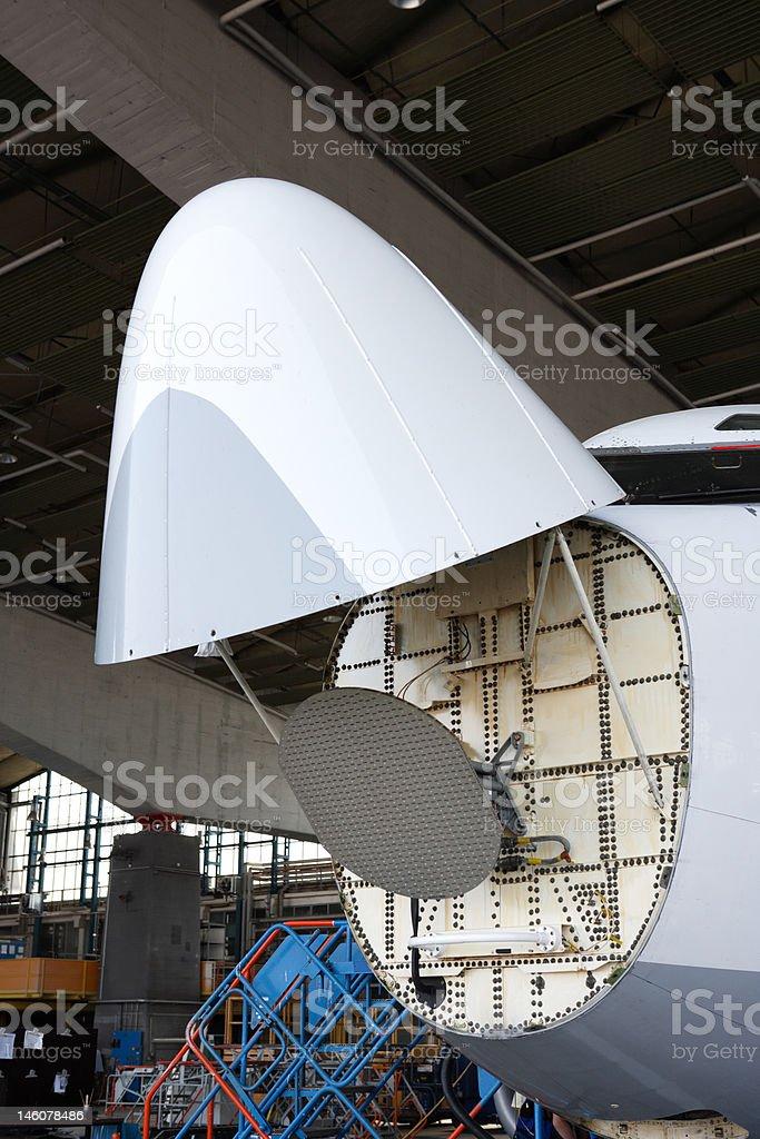 Aircraft maintenance royalty-free stock photo