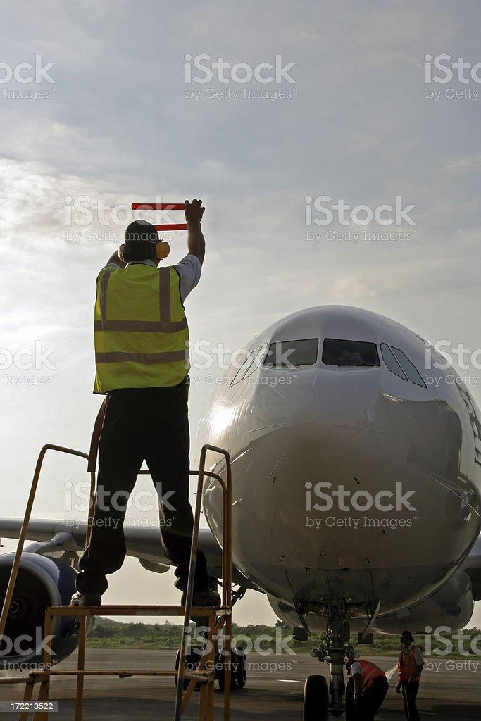 Aircraft Marshaling royalty-free stock photo
