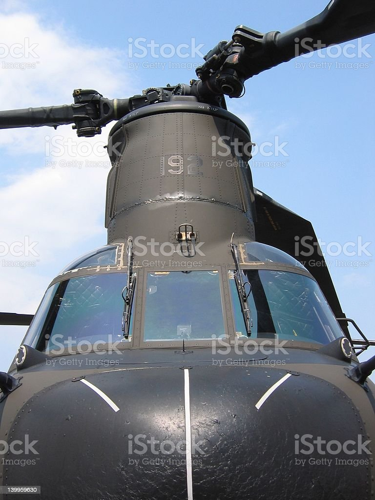 Aircraft - Military helicopter royalty-free stock photo