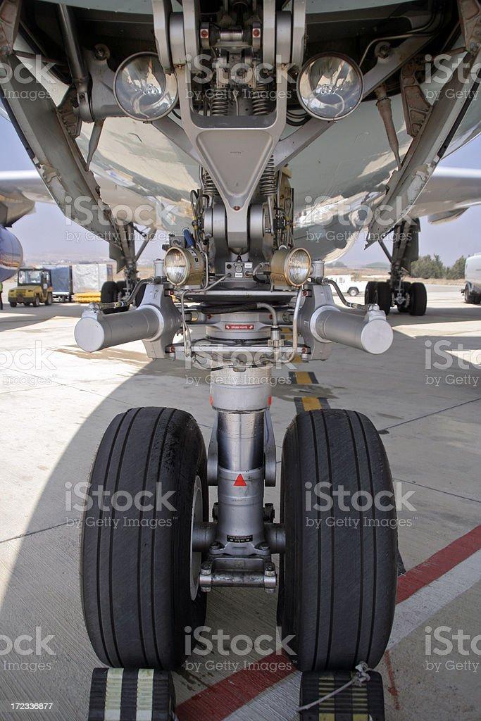 Aircraft Nosewheel stock photo
