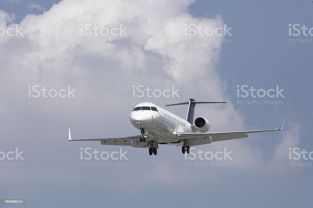 Aircraft on final approach royalty-free stock photo