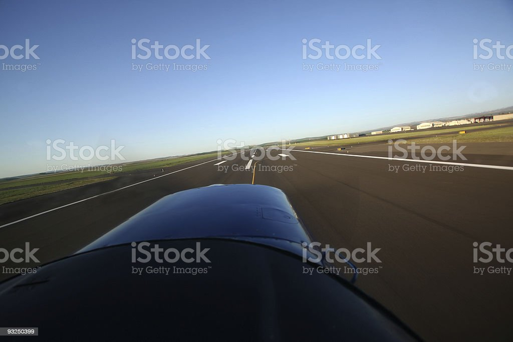 Aircraft on takeoff royalty-free stock photo