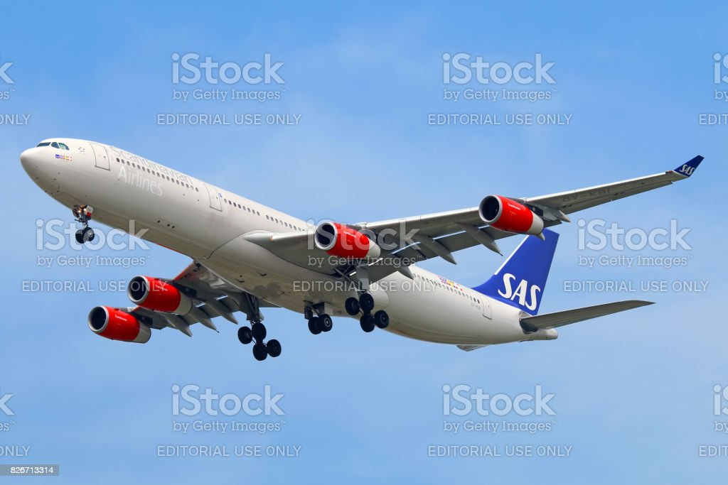 SAS aircraft stock photo