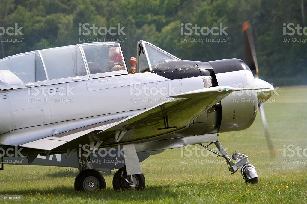 Aircraft royalty-free stock photo