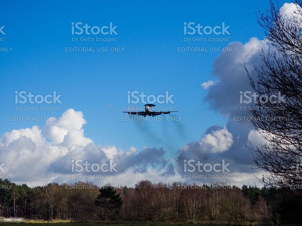 Aircraft Pollution stock photo