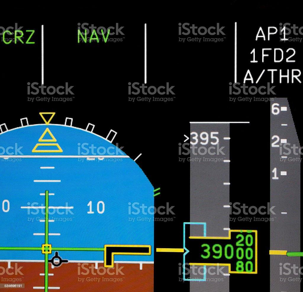 Aircraft Primary Flight Display stock photo