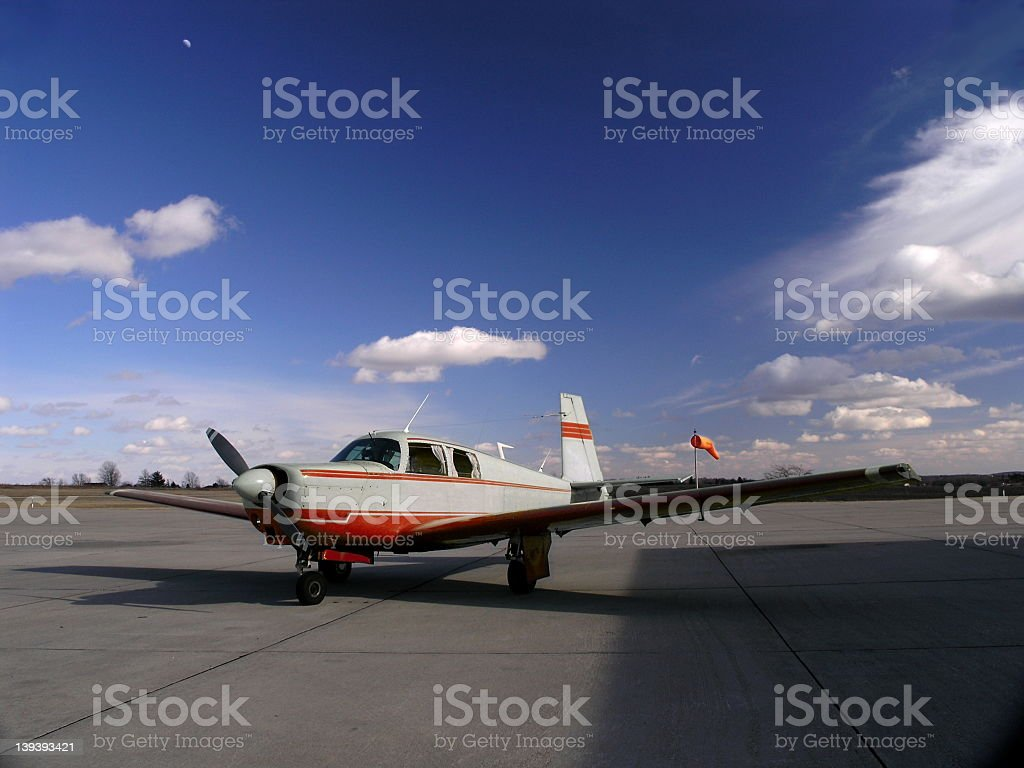 Aircraft, private single engine stock photo