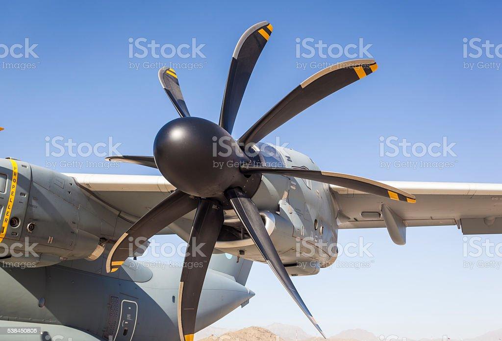 Aircraft propeller stock photo
