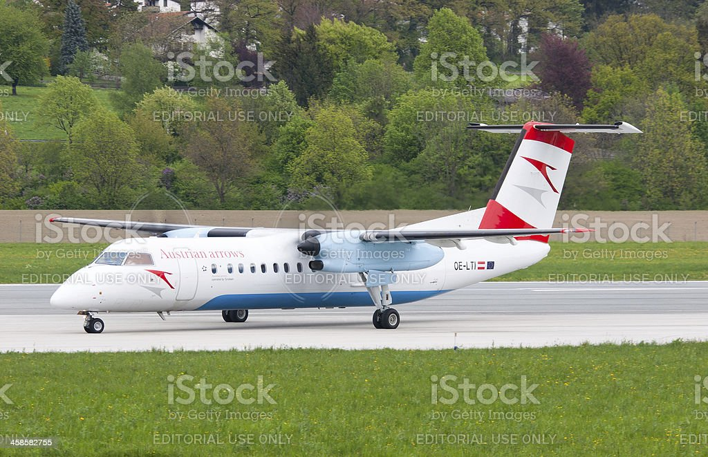 Aircraft Ready For Take Off stock photo