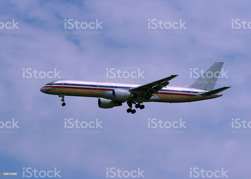 Aircraft Ready To Land royalty-free stock photo