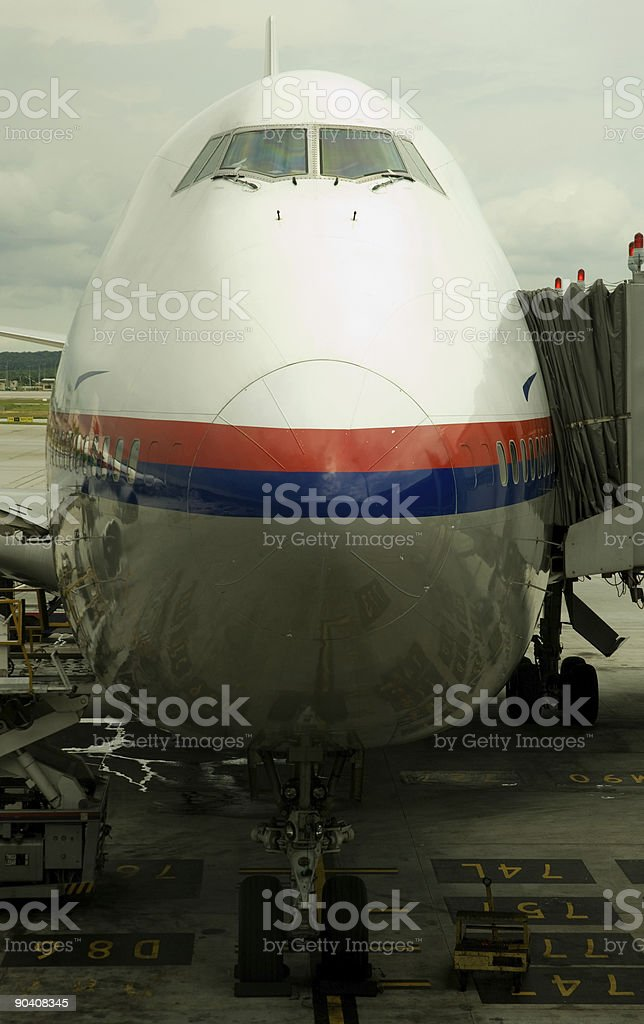 Aircraft refueling royalty-free stock photo