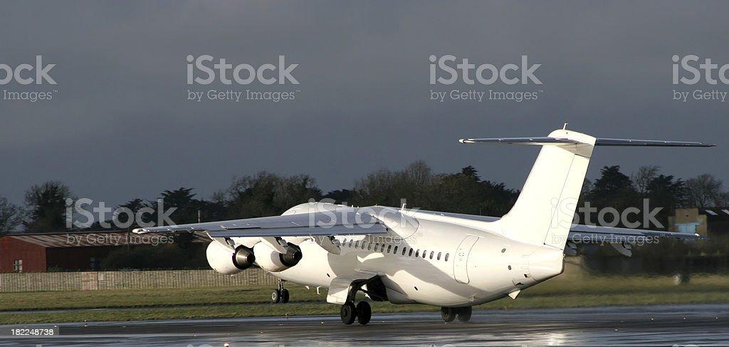Aircraft Rotating stock photo
