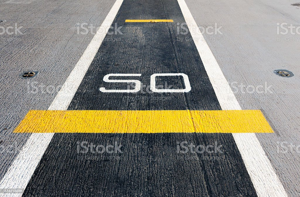 Aircraft runway stock photo