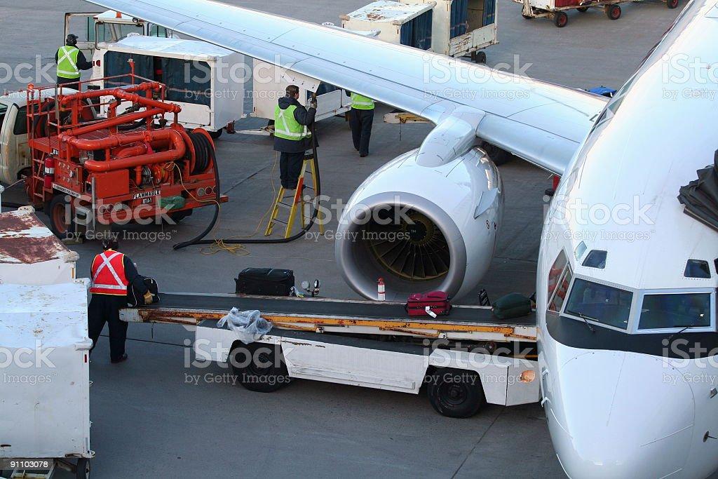 Aircraft Service royalty-free stock photo