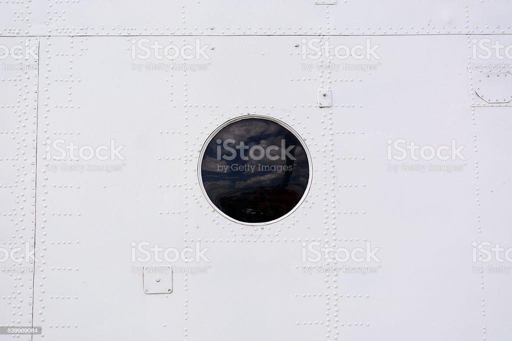 Aircraft sheathing background stock photo