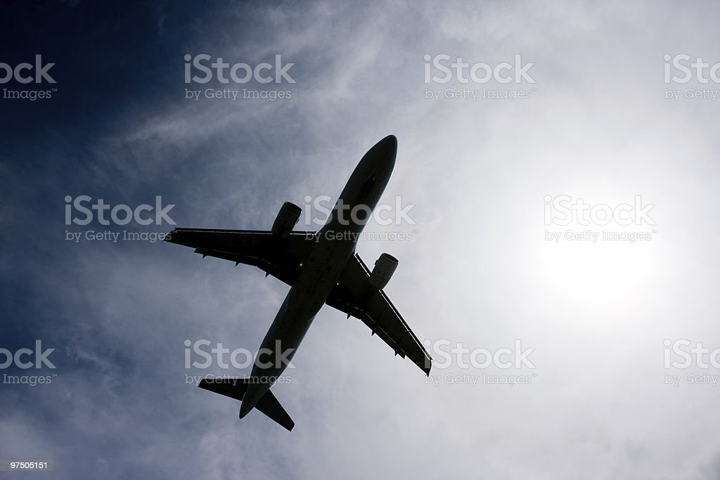 Aircraft Silhouette stock photo