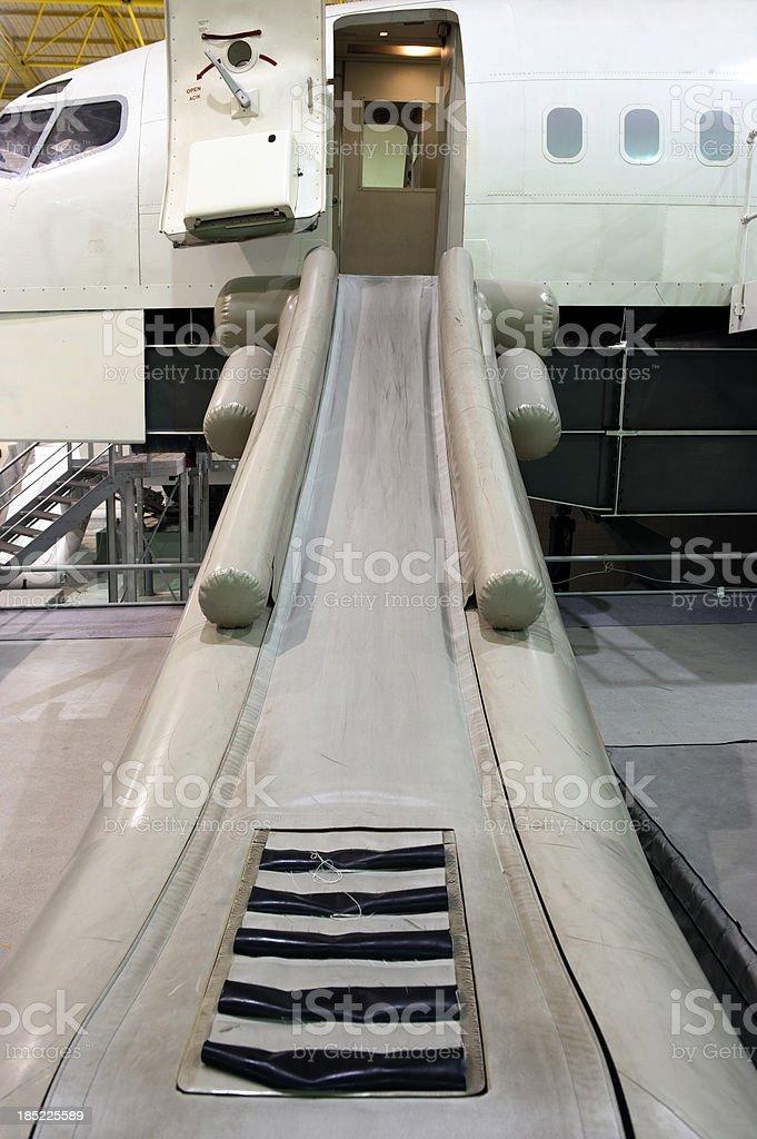 Aircraft Slide Raft stock photo