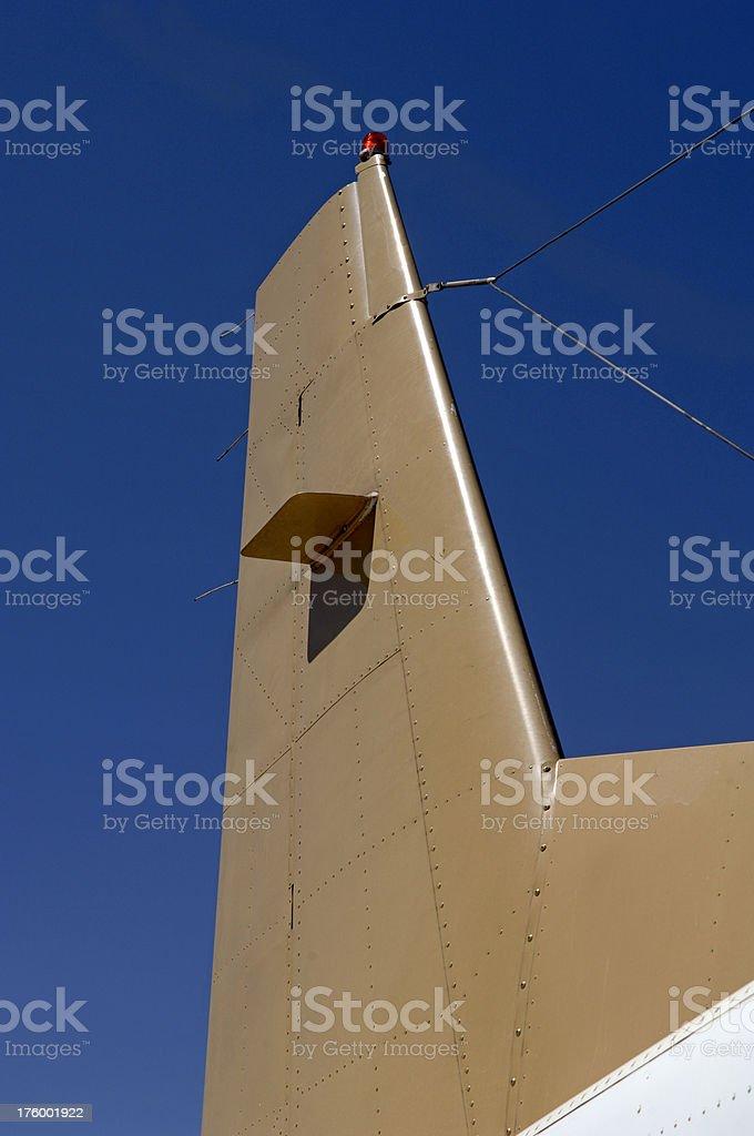 Aircraft tail light stock photo