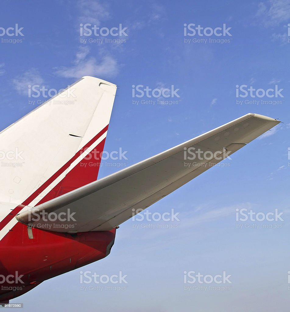 Aircraft tail wings royalty-free stock photo