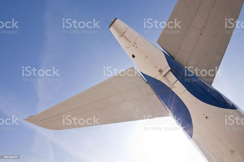 Aircraft tailplane stock photo