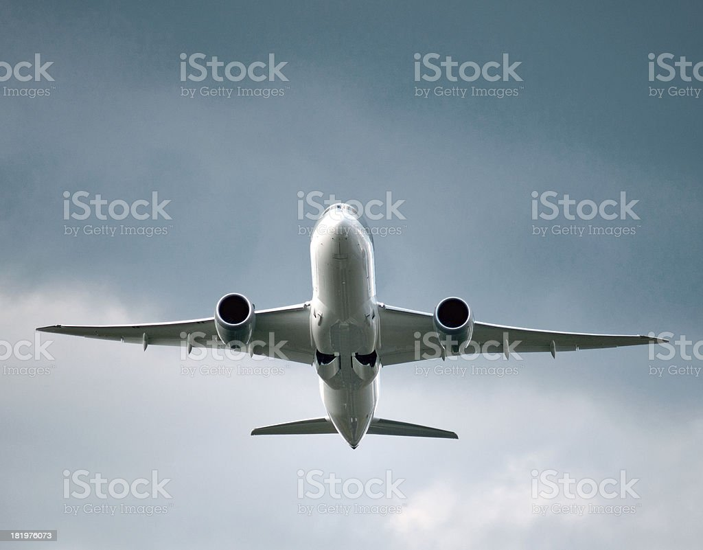 aircraft taking off royalty-free stock photo