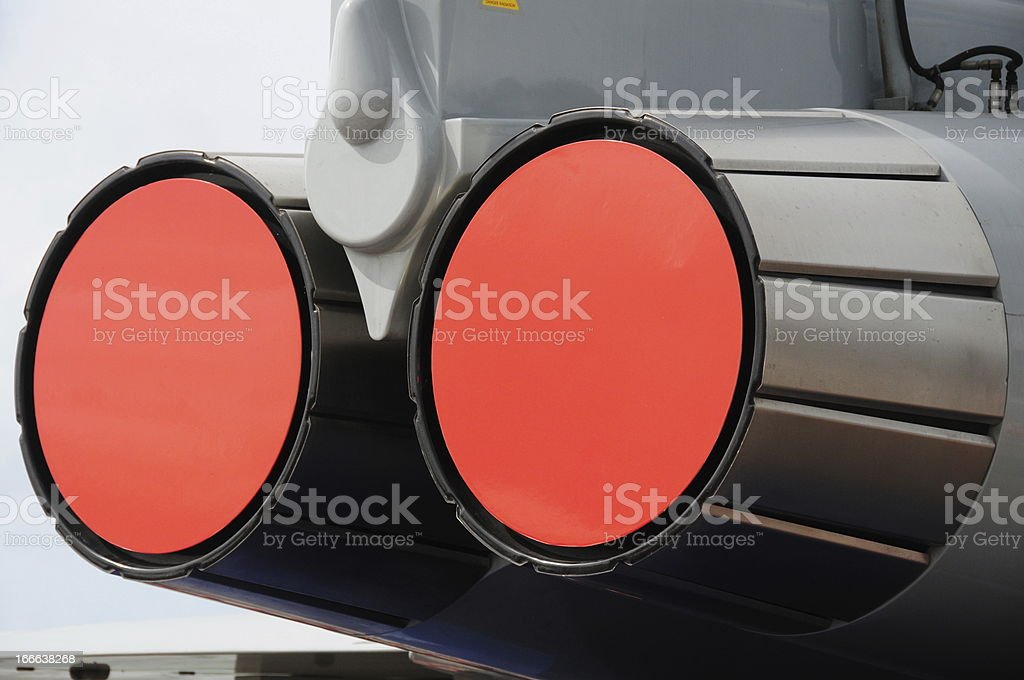 Aircraft thrusters, Jersey. stock photo