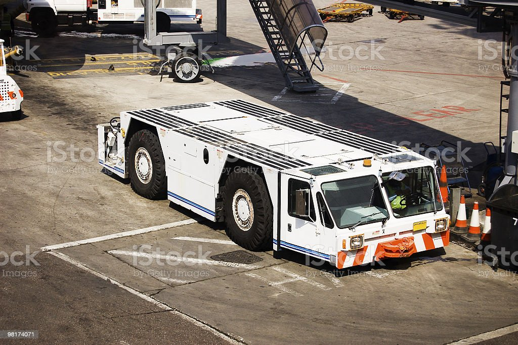 Aircraft Tow Tractor royalty-free stock photo